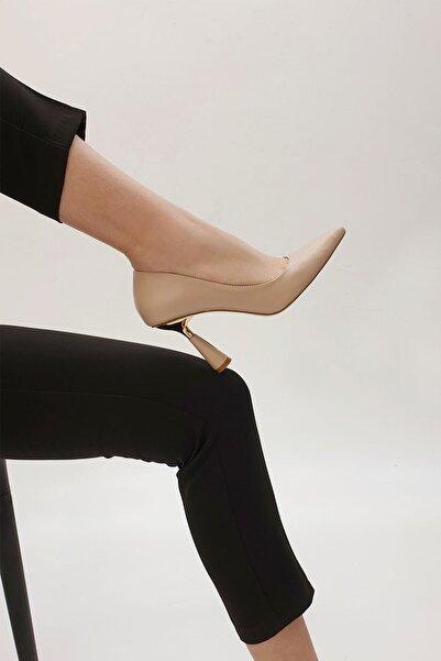 Marjin Estor Kadın Stiletto Topuklu Ayakkabıbej