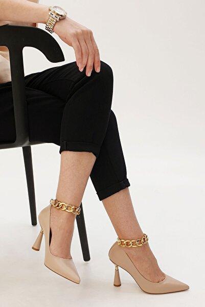 Marjin Nazita Kadın Stiletto Topuklu Ayakkabıbej