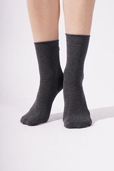 Katia&Bony Harold Bamboo Lastiksiz Kadın Soket Çorap - Antrasit