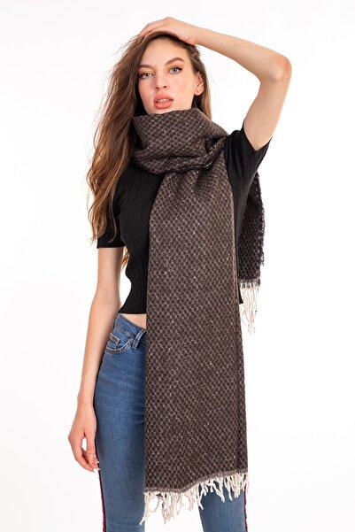 LadyColor Kadın Kahverengi Düz Atkı