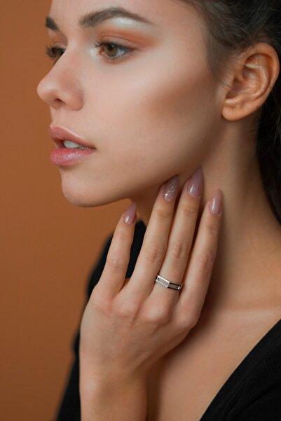 ROVO JEWELRY Geometrik Ayarlanabilir Minimal Gümüş Yüzük