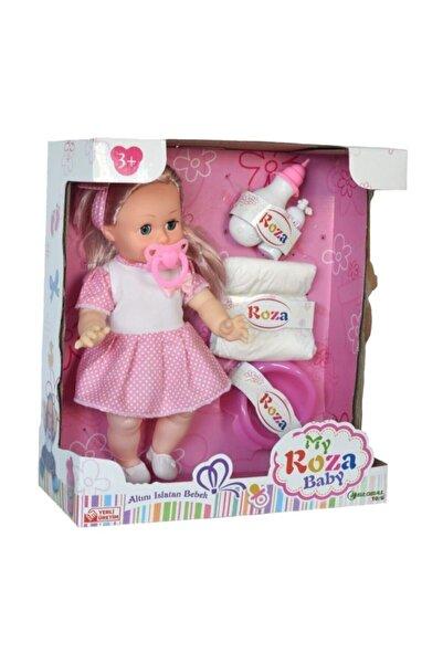 Global Toys Global Altını Islatan Masal Anlatan Biberon Ve Emzikli 32 Cm Roza Bebek 100460