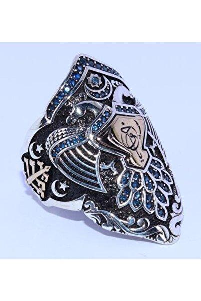 ENDERŞAH Islam Usta Tasarımı Kemankeş Gümüş Erkek Yüzük