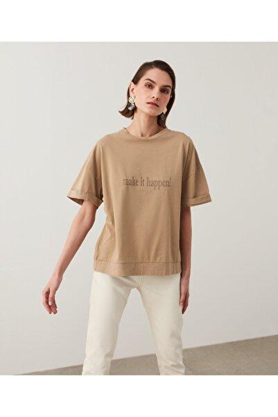 İpekyol Slogan Baskılı Tişört