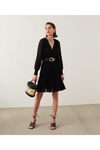 İpekyol Piliseli Fırfırlı Elbise