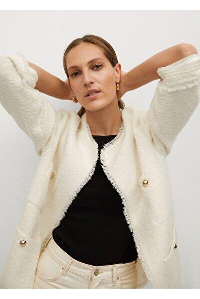 MANGO Woman Kadın Beyaz Ceket
