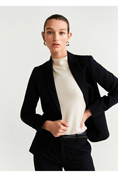 MANGO Woman Kadın Siyah Astarlı Gündelik Blazer Ceket 67090545
