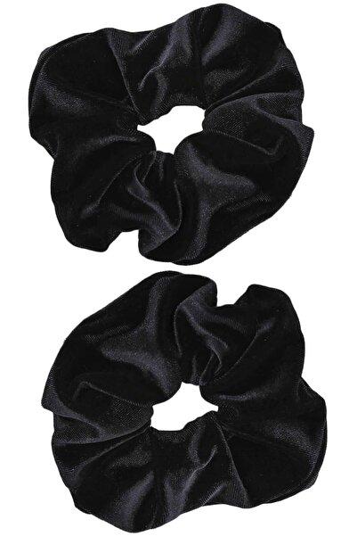 İnci Accessories 2 ' Li Kadife Siyah Lastik Toka