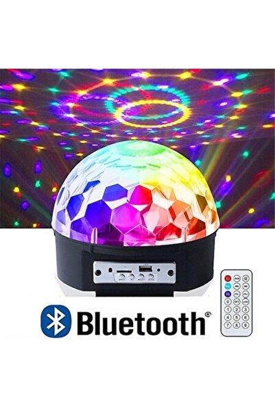 KİNGDOWS Parti Malzemesi Sese Duyarlı Bluetooth Led Küre Disko Topu Renkli Işıklı Lazer Sd Kart+ Test