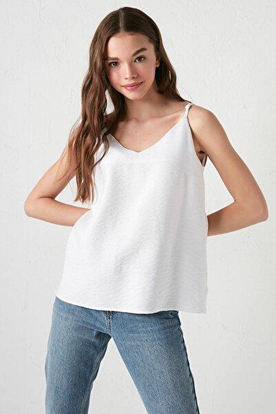 LC Waikiki Kadın Beyaz LCW Casual Bluz