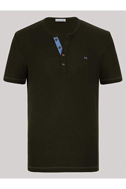 Basics&More Waffle Erkek T-shirt