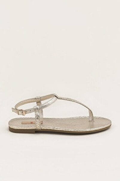 RADELLA Hakiki Deri Gold Kadın Sandalet 20YLT101119