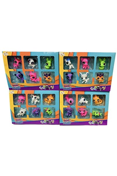 BOBO TOYS Minişler 6 Lı Oyuncak Miniş Ailesi Miniş, Kedi Y058