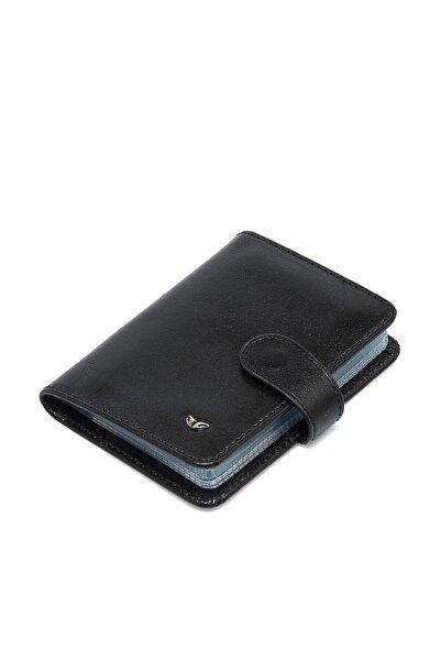 Tergan Hakiki Deri Siyah Unisex Kredi Kartlık S1KK00001210