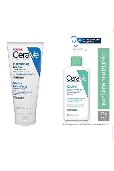 CeraVe 236 Ml Köpüren Temizleyici + 177 Ml Moustring Cream