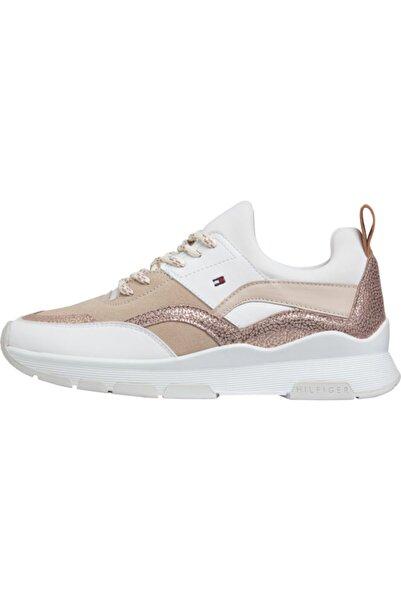 Tommy Hilfiger Kadın Bej Sporty Chunky Glitter Sneaker