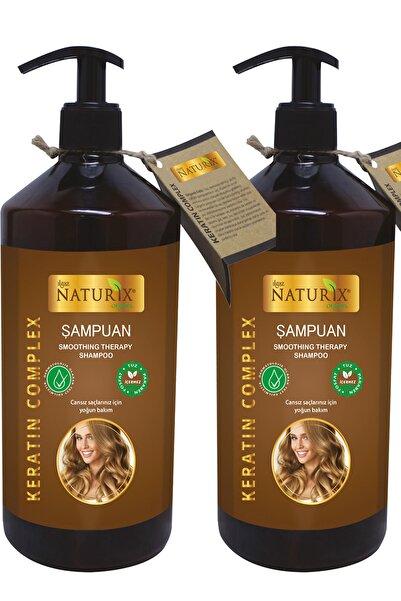 Naturix 2 Adet Tuzsuz Şampuan Keratin Şampuanı 600 Ml Keratinli Şampuan ( Paraben Fosfat Tuz Içermez )