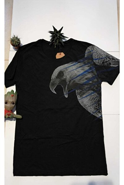 Ceo Erkek Siyah Kartal Baskılı Tişört