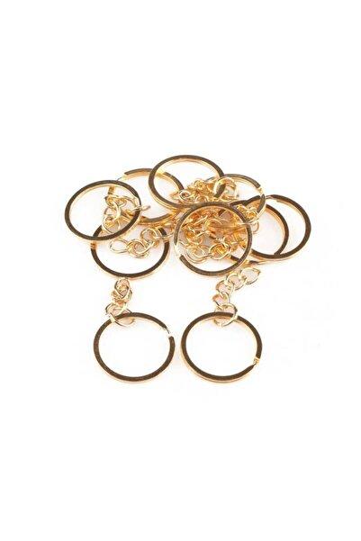 Simisso Gold Zincirli Anahtarlık Halkası 5 cm 10'lu