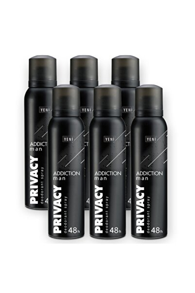 Privacy Man Addiction Erkek Deodorant 6x150ml
