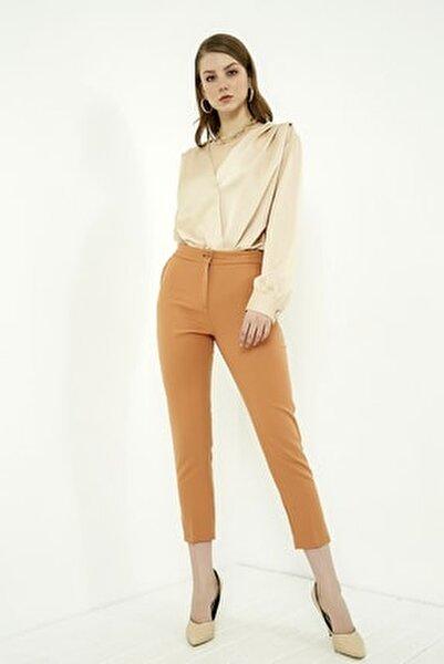 Kadın Tarçın Klasik Düz Pantolon