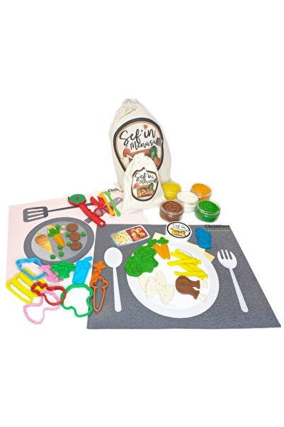 ChildGen Play Dough Doğal Oyun Hamurları Şefin Menüsü Konsept Set