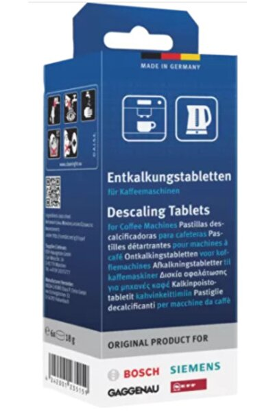 Siemens Kahve Makineleri Için Kireç Çözücü Tablet 6 Adet