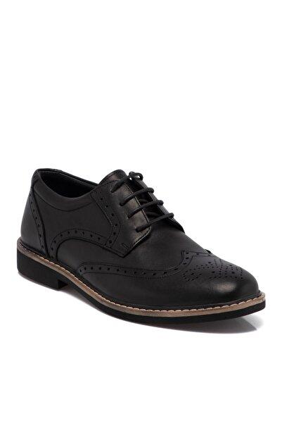 Tergan Erkek Siyah Deri Klasik Ayakkabı