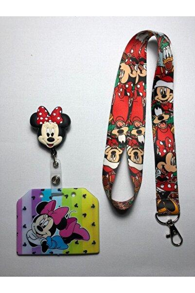 Hediyebum Minnie Mouse Boyun Askısı Yoyo Ve Kartlık Set
