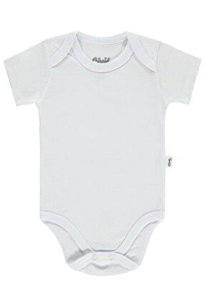 Bebek Çıtçıtlı Badi 0-24 Ay Beyaz