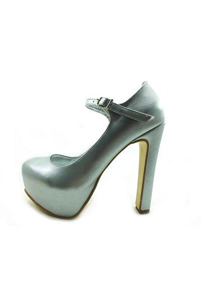 Almera Çarıkçım Topuklu Platform Bayan Ayakkabı - Lame-perde - 2138