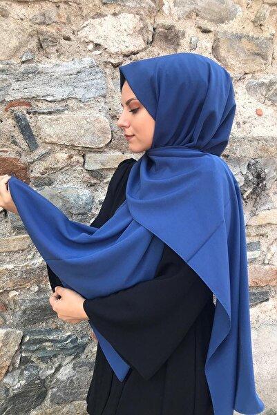 Stella Kadın İndigo Mavi Medine İpeği Şal