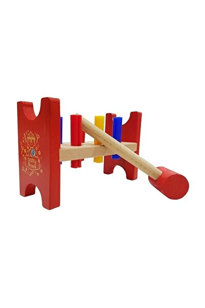 Baby&Toys Ahşap Bebek Çak Tak Oyunu