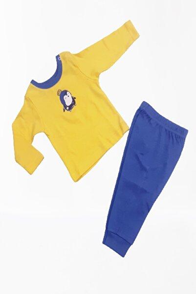 Abentiny Penguenli Erkek Bebek Pijama Takımı