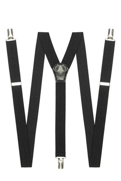 DWOY Metal Klipsli Siyah Pantolon Askısı
