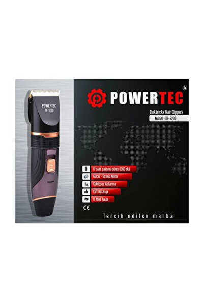 Powertec Siyah Tr 3200 Traş Makinesi