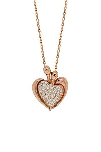 Hyde Park Hydepark Gümüş Taşlı Kalp Kolye 43k2kly0378002335