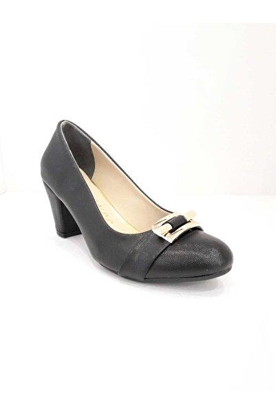 Essence Kadın Siyah Klasik Topuklu Ayakkabı