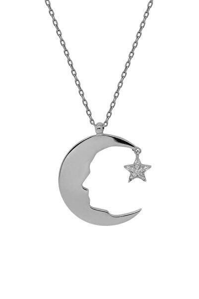 Hyde Park Hydepark Gümüş Taşlı Ayyıldız Kolye 44k2kly0281002342