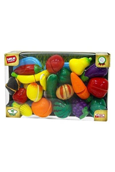SmartFox Birlik Oyuncak 41 Parça Oyuncak Meyve Sebze Kesme Seti