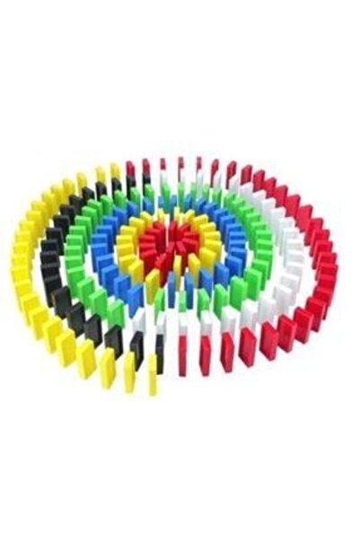 99 Papulin Toys 200 Parça Eğitici Renkli Domino Taşları