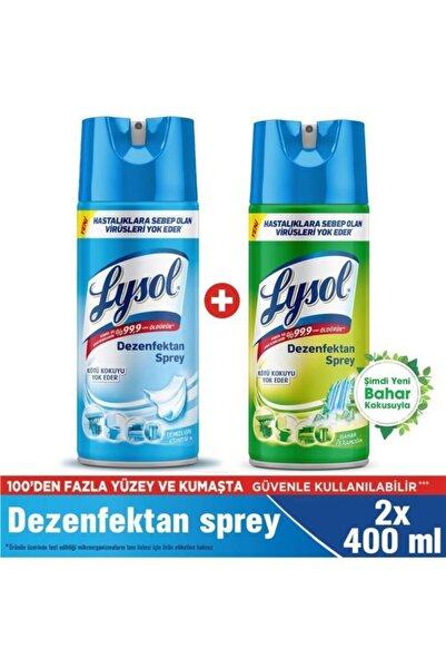 Lysol Dezenfektan Sprey Temizliğin Esintisi + Bahar Ferahlığı Yüzeyler İçin, 2x400 ml