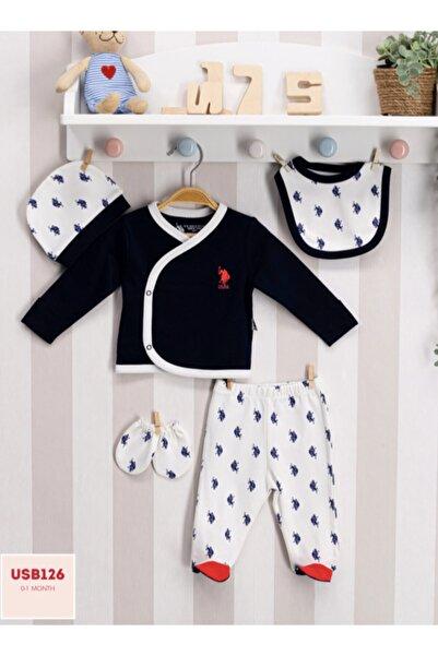 U.S. Polo Assn. Kids U.s Polo Assn. Bebek 5'li Zıbın Takımı Yenidoğan Usb126