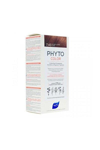 Phyto Color 7.43 - Kumral Bakır Dore (Bitkisel Saç Boyası) -