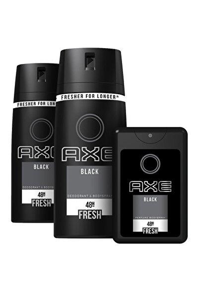Axe Black Erkek Deodorant Sprey 150 Ml X 2 + Cep Parfümü 17 ml