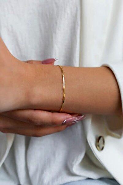 Kadın Tilki Kuyruğu Model Altın Kaplama Gümüş Italyan Bileklik