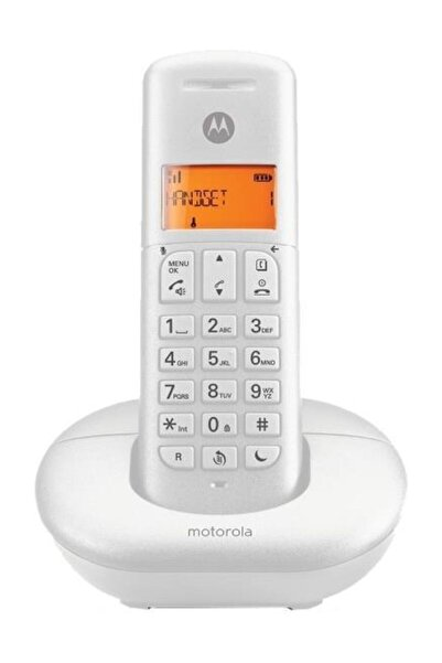 Motorola E201 Kablosuz Dect Telefon Beyaz