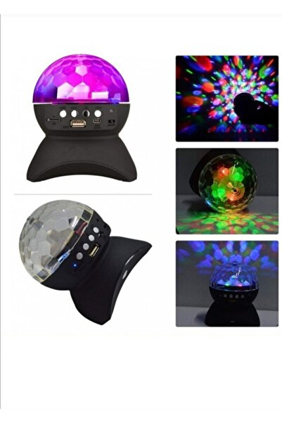 Ledim Parti Malzemesi Bluetoothlu Led Küre Disko Topu Renkli Işıklı Lazer