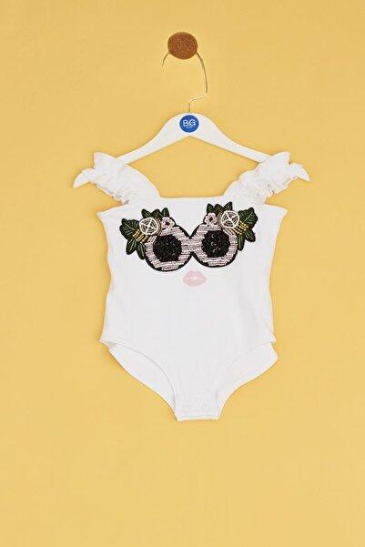 BG Baby Kız Bebek Beyaz Body
