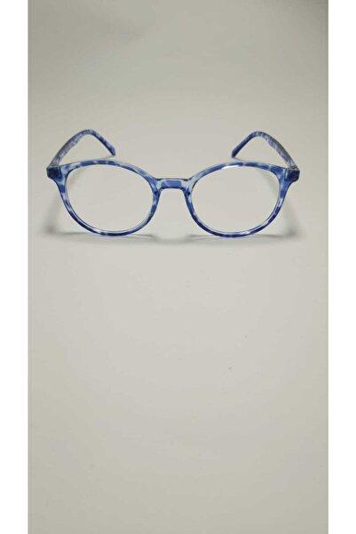 Pulsar Mavi Işık Engelleme Anti Gözlük Bilgisayar Okuma Gözlükleri Uv400 Şeffaf Lens Mavi Desenli Çerçeve